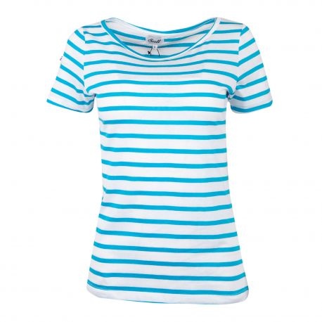 Tee shirt marinière manches courtes adaline Femme SCOTT marque pas cher prix dégriffés destockage