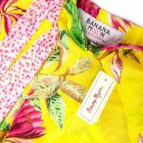 Ensemble Pyjama débardeur rose short jaune à fleurs Femme BANANA MOON marque pas cher prix dégriffés destockage