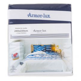 Housse couette marine + 2 taie 240x220cm Mixte ARMOR-LUX
