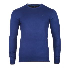 Pull col rond coudiere bleu Homme TORRENTE