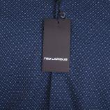Chemise bleu foncé Slim Fit manches longues Homme TED LAPIDUS marque pas cher prix dégriffés destockage