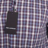 Chemise à motifs carreaux coupe droite manches longues Homme TED LAPIDUS marque pas cher prix dégriffés destockage