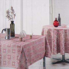 Nappe ronde rouge 180cm madalina jacquard Mixte HARMONIE DU DECOR