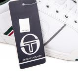 Baskets blanches et kaki stm914120 Homme SERGIO TACCHINI marque pas cher prix dégriffés destockage